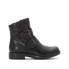 Ботинки кожаные с перекрестными ремешками Mjus