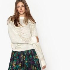 Пуловер с круглым вырезом из плотного трикотажа SEE U Soon