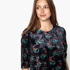 Платье расклешенное с цветочным рисунком, короткое SEE U Soon