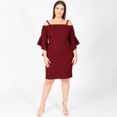 Платье прямое средней длины, однотонное, без рукавов Lovedrobe