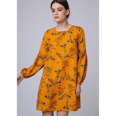 Платье с длинными рукавами с цветочным рисунком Compania Fantastica