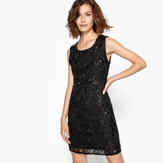 Платье приталенное из кружева с бусинами и блестками Molly Bracken