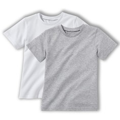 2 футболки однотонные, 3-12 лет La Redoute Collections