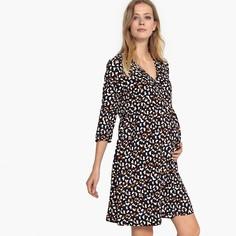 Платье с запахом с рисунком для периода беременности LA Redoute Maternite