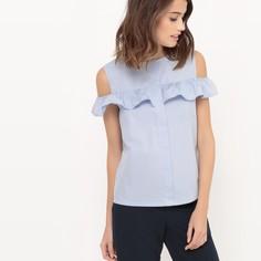 Блузка с открытыми плечами с воланами Mademoiselle R