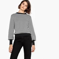 Пуловер из хлопка с рисунком в ломаную клетку Mademoiselle R
