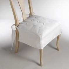 Подушка на стул из льна и хлопка, Jimi La Redoute Interieurs