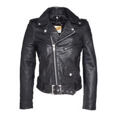 Куртка в байкерском стиле из кожи ягненка LCW8600 Schott