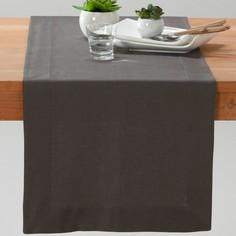 Дорожка столовая из смесовой ткани из льна и хлопка BORDER La Redoute Interieurs