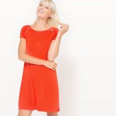 Платье с короткими рукавами из трикотажа Mademoiselle R