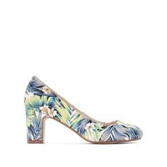 Туфли с тропическим рисунком La Redoute Collections