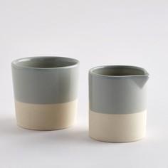 Набор из молочника и сахарницы из керамики, покрытой глазурью, дно из керамики без глазури, Warota La Redoute Interieurs