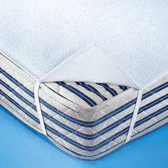 Чехол защитный для матраса двухсторонний из махрового мольтона непромокаемый и дышащий в форме простыни La Redoute Interieurs