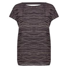 Блузка с рисунком, короткие рукава, вырез сзади Numph