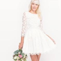 Платье свадебное короткое, из кружева Mademoiselle R