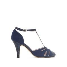 Сандалии на каблуке под кожу питона Mademoiselle R