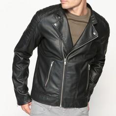 Куртка в байкерском стиле из искусственной кожи La Redoute Collections