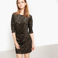Платье прямое короткое с рисунком в полоску SEE U Soon