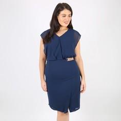 Платье-миди прямое без рукавов Lovedrobe