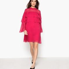 Платье из вуали с воланом La Redoute Collections