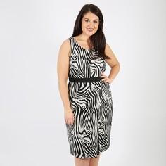 Платье прямое средней длины с рисунком и без рукавов Koko BY Koko