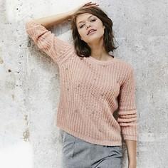 Пуловер с круглым вырезом из плотного трикотажа Suncoo