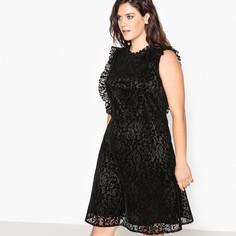 Платье расклешённое с кружевами Castaluna
