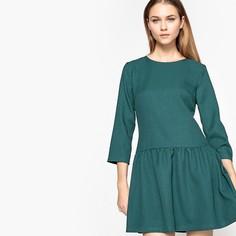 Платье однотонное расклешенного и короткого покроя с рукавами 3/4 Molly Bracken