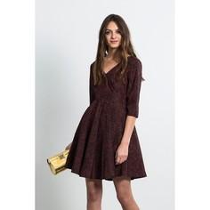 Платье расклешенное с рукавами 3/4, DENA BURDEOS DRESS Compania Fantastica