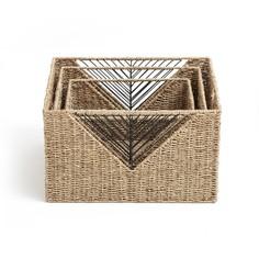 Комплект из 3 прямоугольных корзин, TRESSIE La Redoute Interieurs