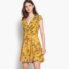 Платье короткое расклешенное с цветочным рисунком Best Mountain
