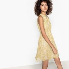 Платье короткое прямое с цветочным рисунком, без рукавов SEE U Soon