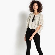 Блузка с V-образным вырезом и короткими рукавами SEE U Soon