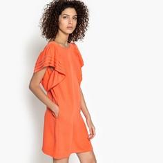 Платье короткое прямое однотонное с короткими рукавами SEE U Soon