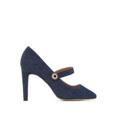 Туфли из денима с оригинальной пряжкой Mademoiselle R