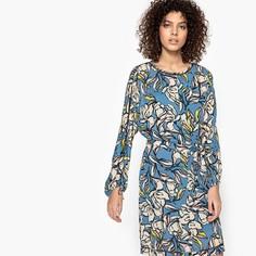 Платье с длинными рукавами и рисунком CECILE Suncoo