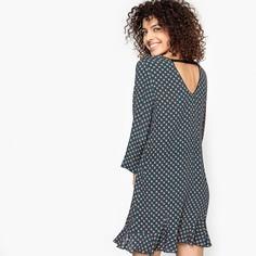Платье прямое с рисунком и вырезом сзади CALLISTE Suncoo