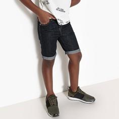 Бермуды джинсовые, 3-12 лет La Redoute Collections