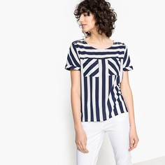 Блузка с V-образным вырезом, рисунком и короткими рукавами Kaporal 5