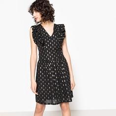 Платье короткое расклешенное с графичным рисунком SEE U Soon