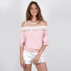 Пуловер с круглым вырезом, из тонкого трикотажа Molly Bracken