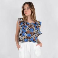 Блузка с круглым вырезом и графичным рисунком без рукавов Molly Bracken