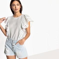 Блузка с круглым вырезом, рисунком и короткими рукавами SEE U Soon