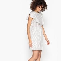 Платье в полоску с воланами CANIA Suncoo
