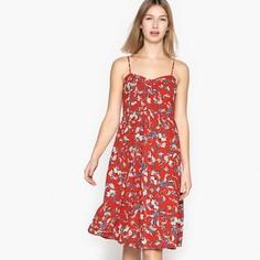 Платье короткое на тонких бретелях с цветочным рисунком SEE U Soon