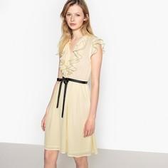 Платье расклешённое с небольшими воланами спереди Mademoiselle R