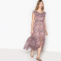 Платье длинное расклешенное с короткими рукавами SEE U Soon