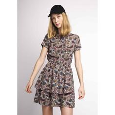 Платье короткое с короткими рукавами и воланами Compania Fantastica