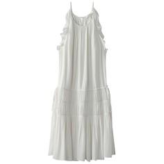 Платье с тонкими бретелями и воланами SEE U Soon
