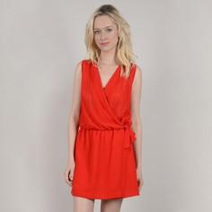 Платье короткое однотонное с запахом без рукавов Molly Bracken